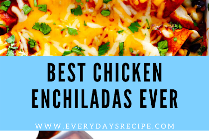 Best Chicken Enchiladas Ever
