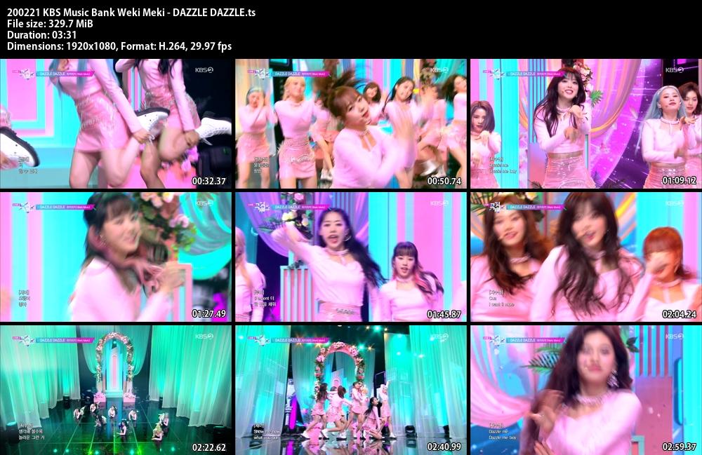 Music Bank ,1080p , Kpop, Weki Meki , DAZZLE DAZZLE
