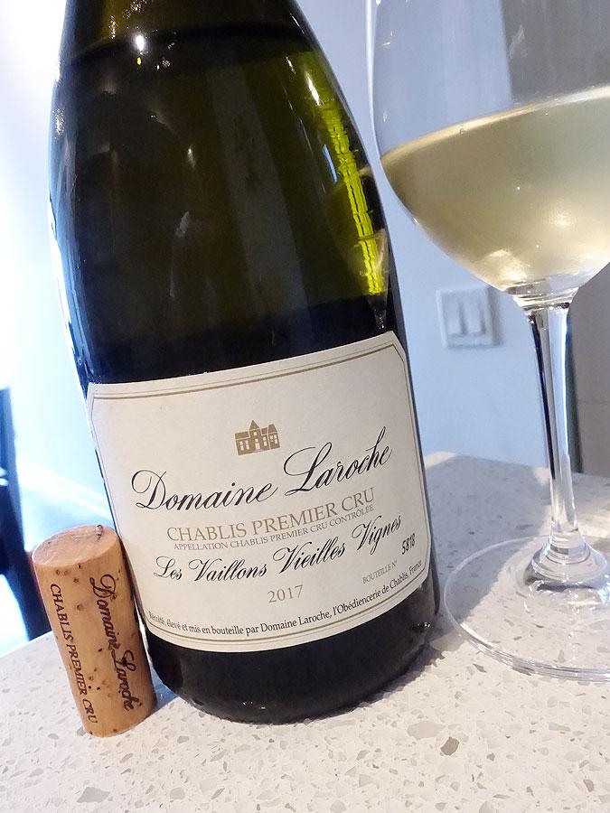 Domaine Laroche Vieilles Vignes Les Vaillons Chablis 1er Cru 2017 (92 pts)