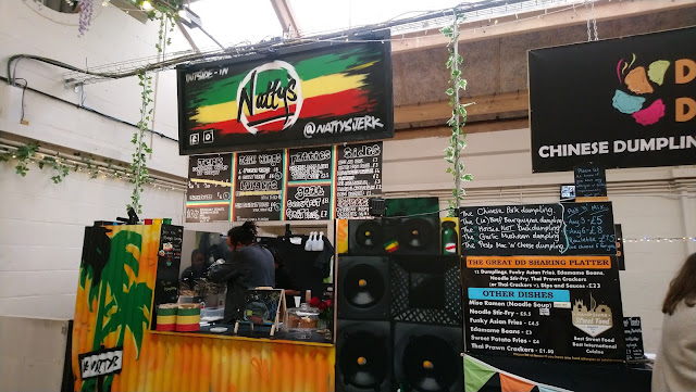 Street food vendors at Outside-In Food Court, Portsmouth