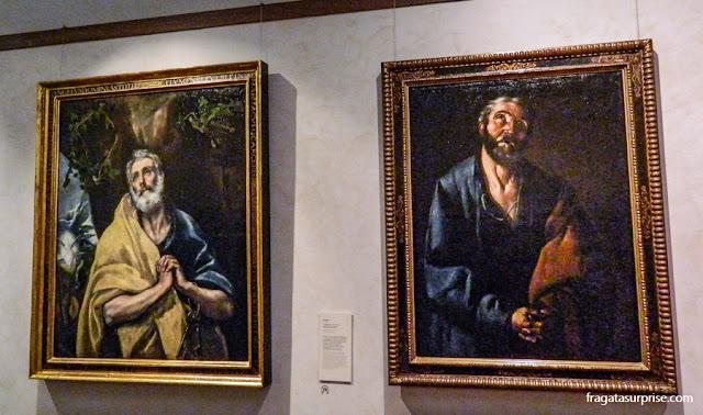 """""""As Lágrimas de São Pedro"""", obras de El Greco e de Francisco de Zurbarán"""