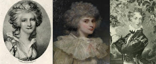 From left: Lady Anne Barnard, Lady Elizabeth Foster and Lady Caro Lamb