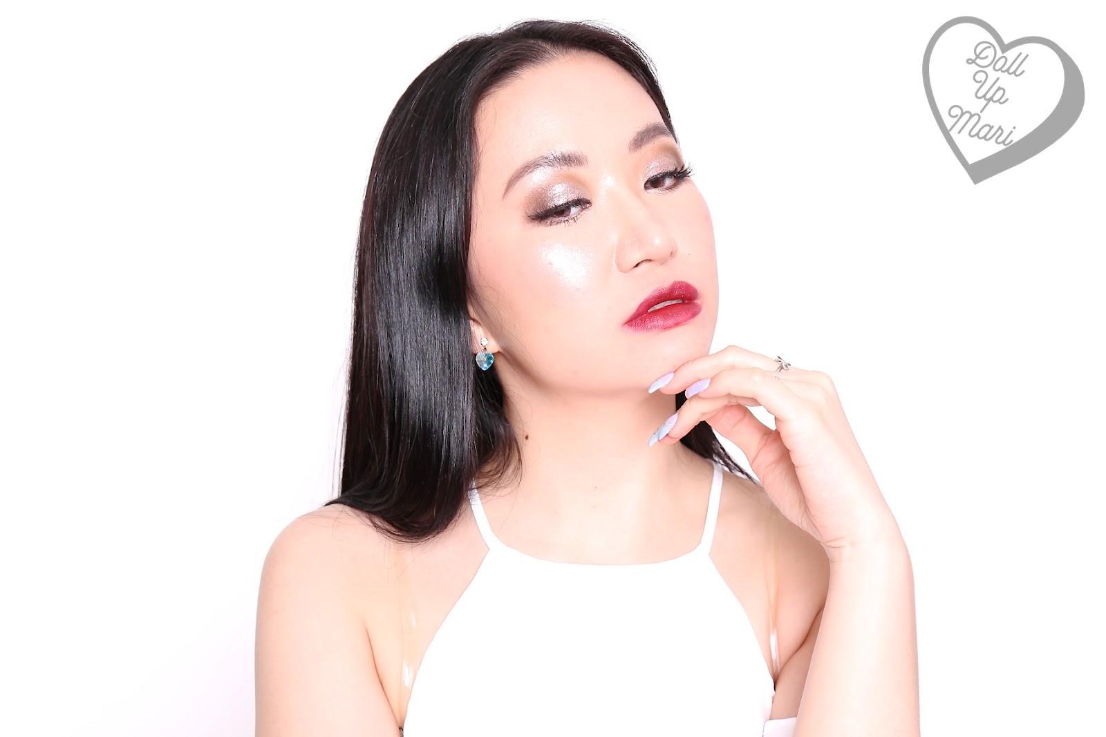 Mari wearing Superb Wine shade of AVON Perfectly Matte Lipstick