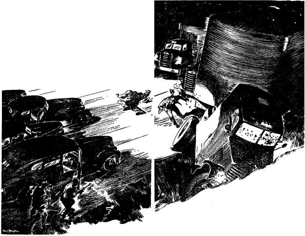 Dime Detective June 1943 - Mr. Six Feet Deep - W. T. Ballard - illustration by Carl Pfeufer