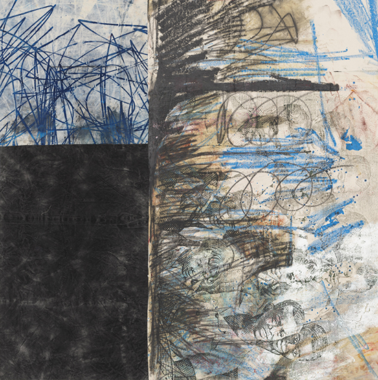 Oscar Murillo, untitled, 2015-16, oil, oilstick and graphite on canvas on linen