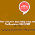 Free Job Alert 2021: Daily Govt Job Notifications - 30-01-2021