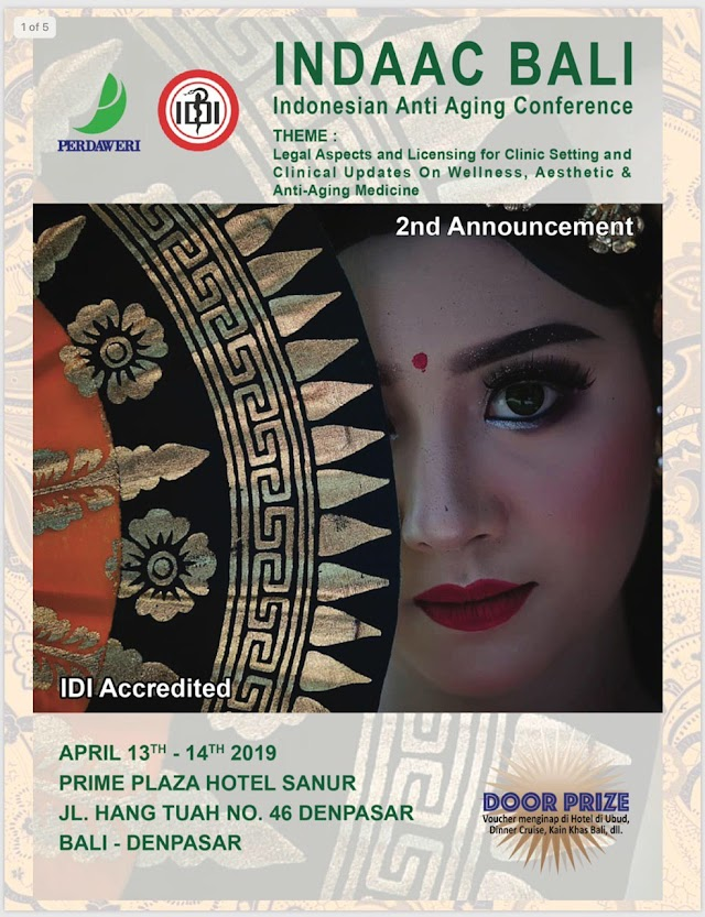 INDAAC (Indonesia Anti Aging Conference) BALI 13-14 April 2019
