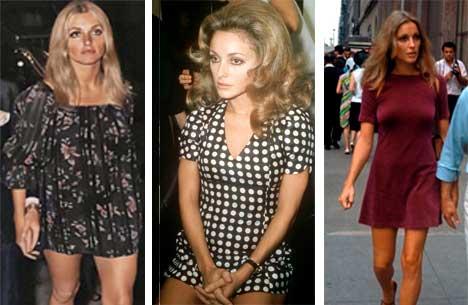 Sharon Tate vestidos diferentes