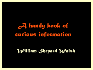 A handy book of curious information:
