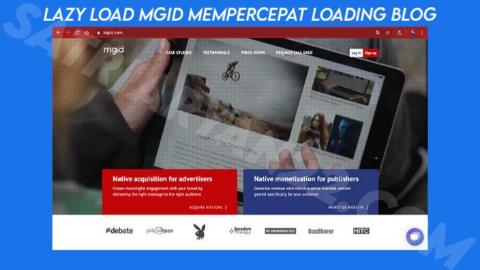 Lazy Load MGID untuk Mempercepat Loading Blog