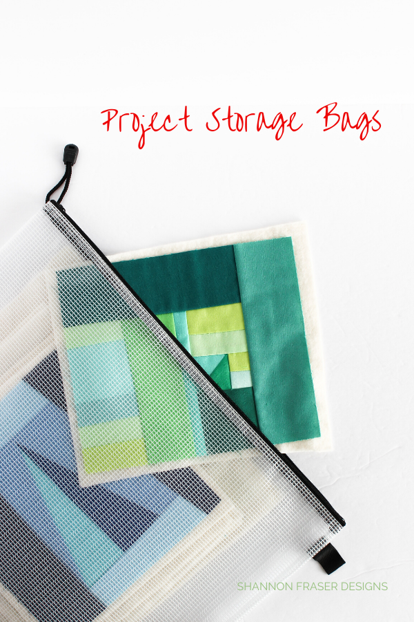 Modern Mini Art Quilts in Project Storage Bag | #100daysofsfDMinis | 2019 Holiday Gift Guide | Shannon Fraser Designs #holidaygiftguide #wip #wipstoragebags #projectbags #quilters