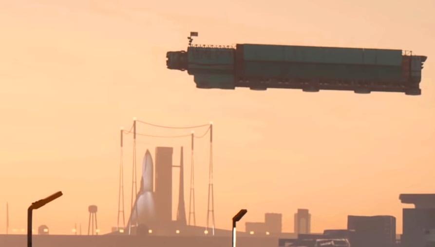 Orbital Air Space Center from Cyberpunk 2077 game