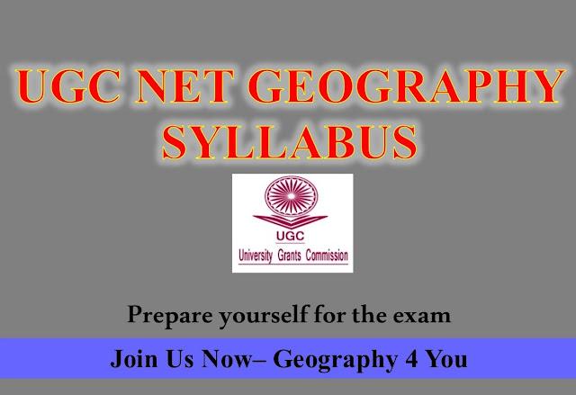 UGC NET GEOGRAPHY(80) SYLLABUS-