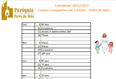 Animação da missa das 19:00h - na Igreja de São Pedro - 2021-2022