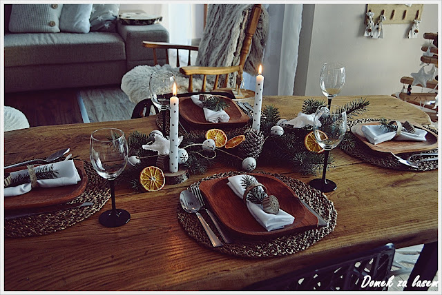 Świąteczne  dekoracje część -4 stół