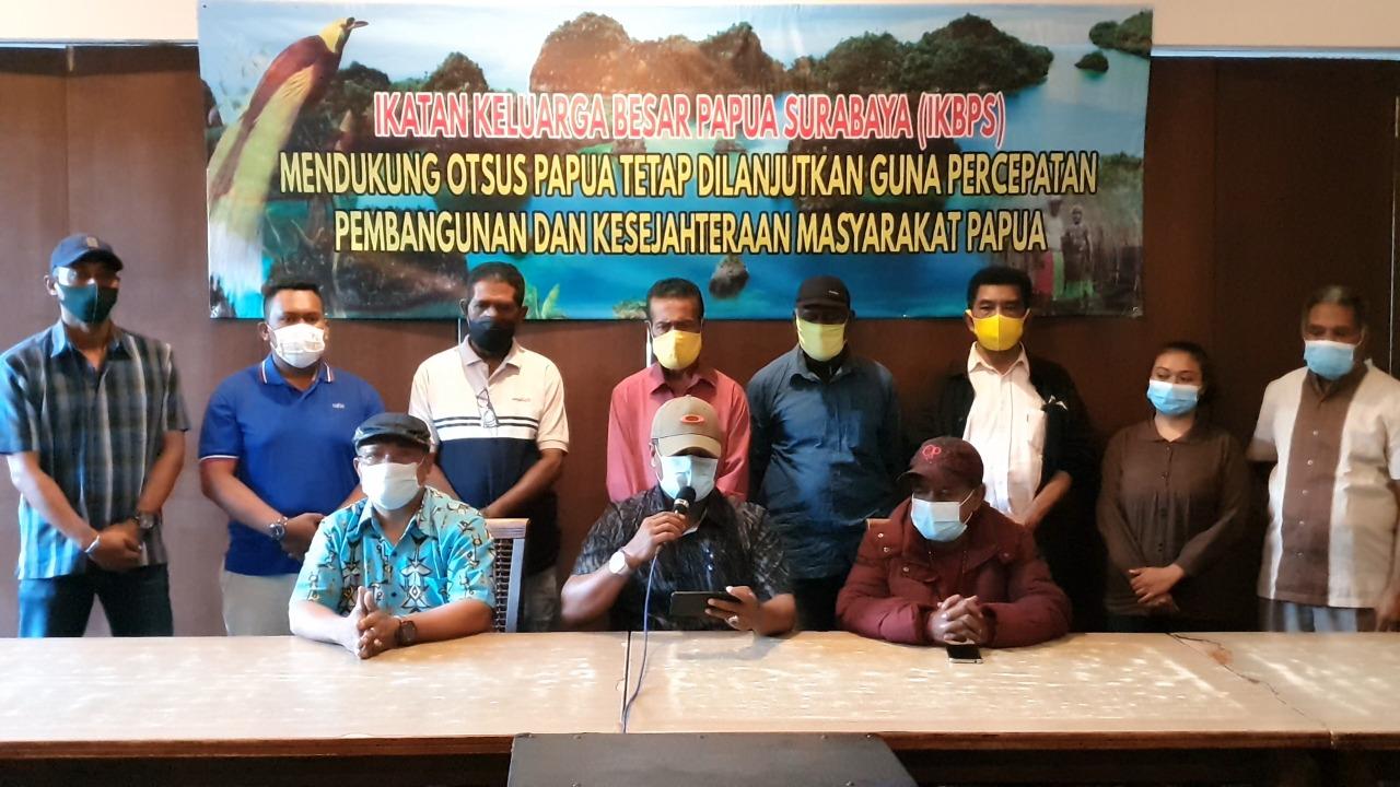 Dukung Otsus Jilid II, Ikatan Keluarga Besar Papua Surabaya: Kami Minta Dilanjutkan