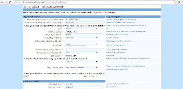 Cara mengurus Turis Visa Ke India