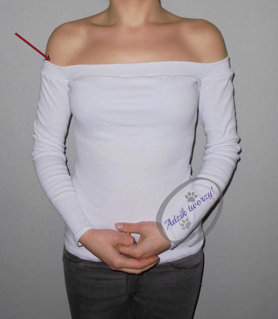 Adzik tworzy - naprawa rozciągniętego dekoltu w ubraniach DIY
