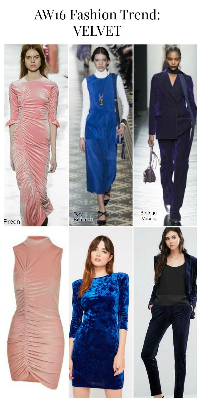 aw16 Fashion Trend Velvet
