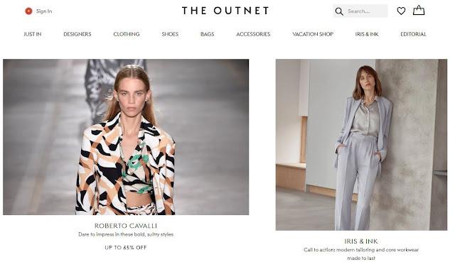 Giao diện web bán hàng giảm giá The Outnet