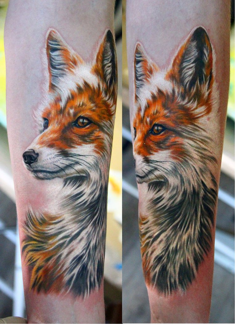 Realistic Fox Tattoos For Women