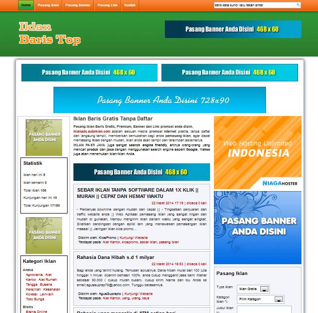 Toko Online Bekasi Jual Script Iklan Baris Cms Terbaru Tanpa