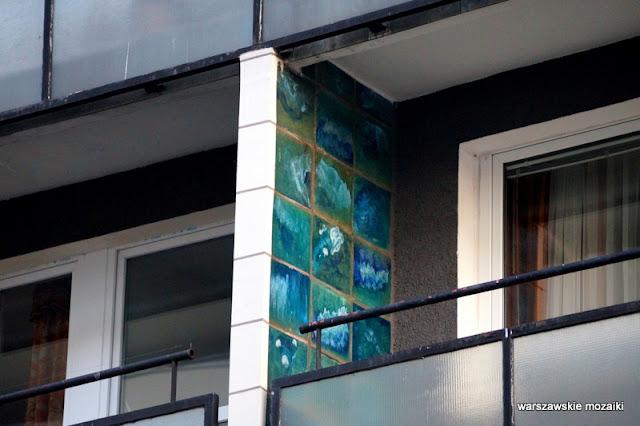 Warszawa Warsaw modernizm modernism architektura architecture lata 60 Jerzy Gieysztor Jerzy Kumelowski luksus balkony mozaika ceramika