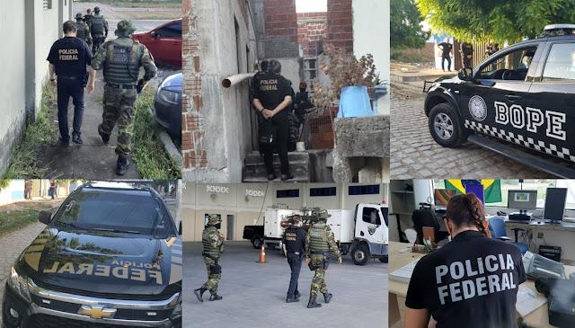 Operação conjunta da PF e PM combate suposta organização criminosa composta por servidores públicos no RN