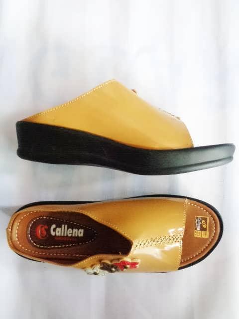 Sandal CEWE Callena MODEL SLOP COKLAT SAMPING