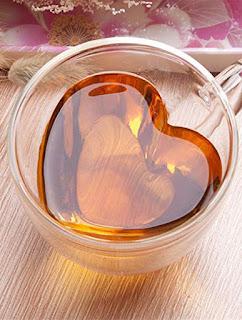 Gift for girls : Love Hearts Glass Mug