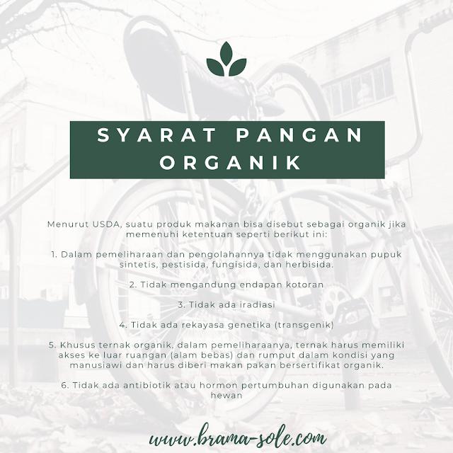 syarat bahan pangan organik