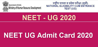 """The Ministry of Human Resource Development (MHRD), Government of India (GOI) has established National Testing Agency (NTA) as an independent autonomous and self-sustained premier testing organisation for conducting efficient, transparent and international standard test in order to access the competency of candidates for admission to premier higher education institutions.    NATIONAL ELIGIBILITY CUM ENTRANCE TEST (UG) 2020 (NEET (UG) - 2020) will be conducted by National Testing Agency (NTA) for admission to MBBS/BDS Courses and other undergraduate medical courses in approved/recognized Medical/Dental & other Colleges/ Institutes in India.    Section 14 of the National Medical Commission Act, 2019 provides for holding of a common and uniform National Eligibility-cum-Entrance Test (NEET) for admission to the undergraduate medical courses in all medical institutions including those governed under any other law. Thus, the admission to MBBS course in AIIMS, New Delhi, JIPMER and all AIIMS like Institutions will be made through NEET. The eligibility criteria applicable to appear in NEET (UG) shall also be applicable to the candidates desirous to take admission to INIs like AIIMS.      Similarly, the criteria for minimum qualifying marks to be eligible for admission to MBBS course shall also be applicable to INIs. Further, the common counseling for admission to MBBS course in these INIs shall be conducted by the DGHS as per the Time Schedule specified in the MCI's regulations.    The NEET (UG) - 2020 will be conducted on Sunday, the 13th September, 2020. The responsibility of the NTA is limited to the conduct of the entrance examination, declaration of result and for providing an """"All India Rank Merit List"""" to the Directorate General Health Service, Government of India for the conduct of counselling for 15% All India Quota Seats and for providing the result to States/other Counselling Authorities.    Download..... NEET Admit Card..."""