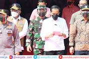 Jelang HUT Bhayangkara ke-75, Presiden Jokowi Tinjau Vaksinasi Massal