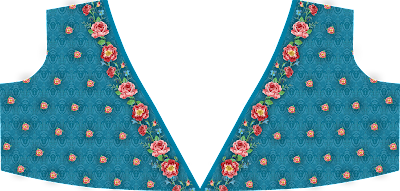 digital textile design Top Front