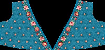 Flower Print Mini Top Skirt Textile Digital Design - Front 2733