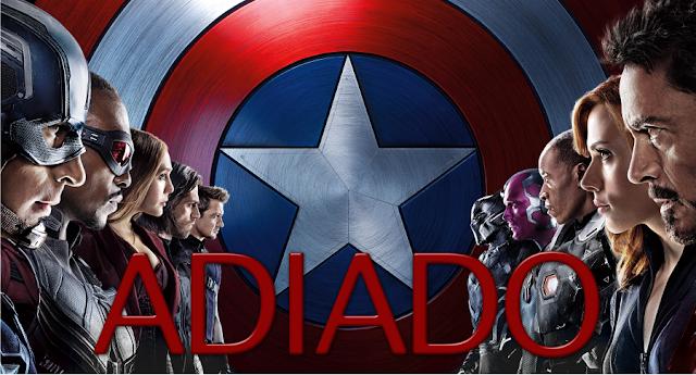 Capitão América: Guerra Civil é adiado!
