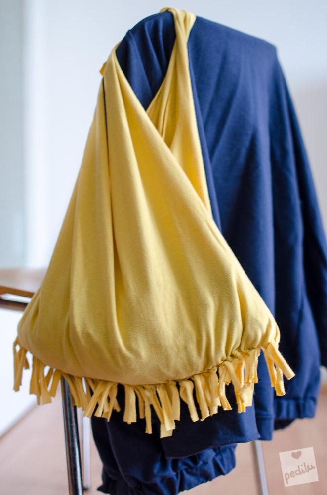 Gelbe Fransentasche (No-Sew DIY)