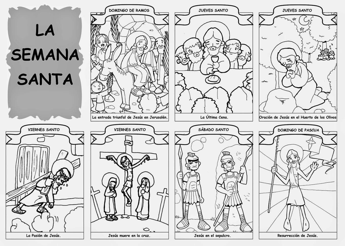Moderno Jesús Para Colorear Páginas De Pascua Bandera - Ideas Para ...