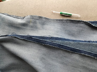open sides on old jeans creaftrebella