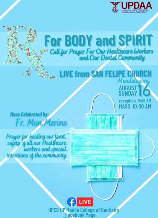 UPDAA: Live Holy Mass for our Medical Frontliners and for our Dental Community