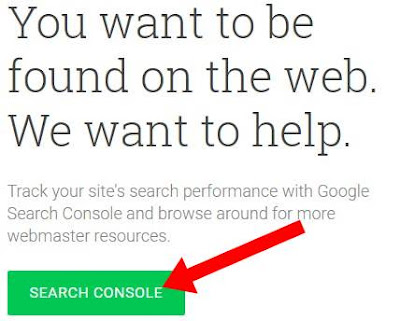 Sign in to search console