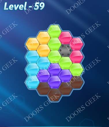 Block! Hexa Puzzle [Intermediate] Level 59 Solution, Cheats, Walkthrough for android, iphone, ipad, ipod