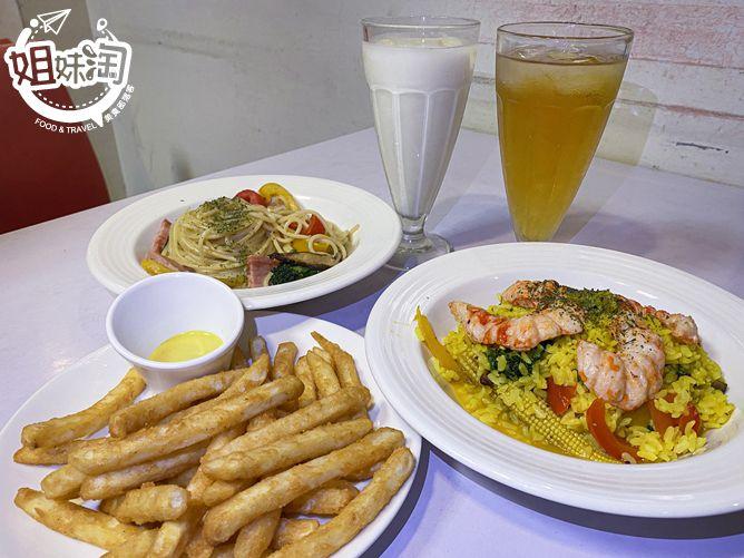 全素的美式餐廳在這裡!海鮮燉飯及義大利麵通通有,無任何動物成分的好餐廳-耶蔬蔬食美式餐廳