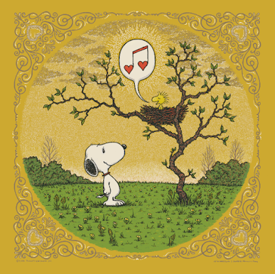 "Peanuts ""Woodstock's Song of Love"" Gold Edition Screen Print by Marq Spusta"
