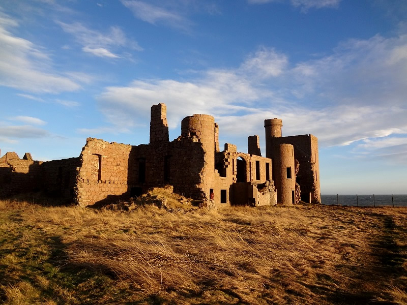 Slains Castle in Aberdeenshire Scotland