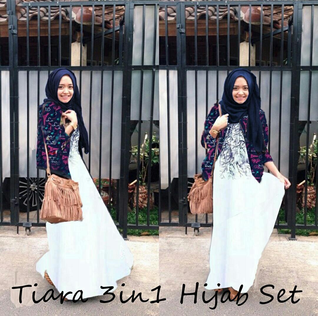 Jual Plus Jilbab / Kerudung 3 In 1 Hijab Tiara - 12951