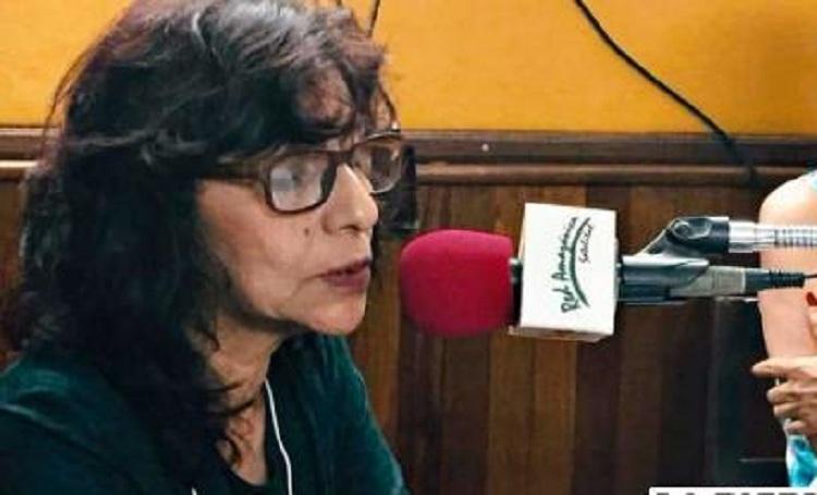 La periodista de red Amazónica de ERBOL y Radio Santa Cruz, Mercedes