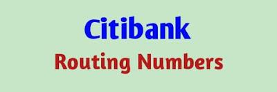 Citibank Routing Number, Routing Number Citibank