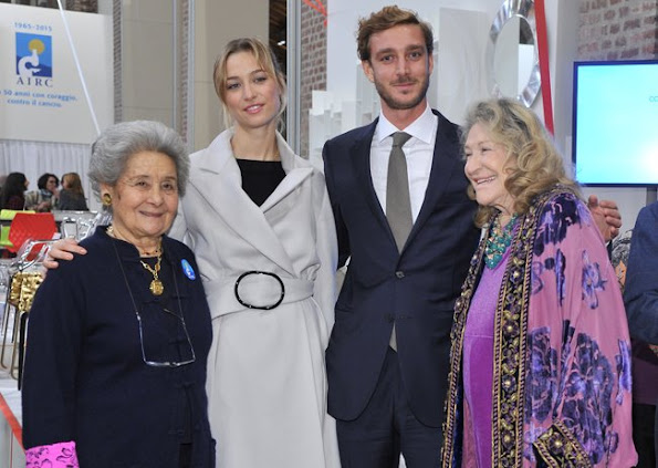 Pierre Casiraghi and Beatrice Borromeo with his aunt, Bona Borromeo, and grandmother, Marta Marzotto