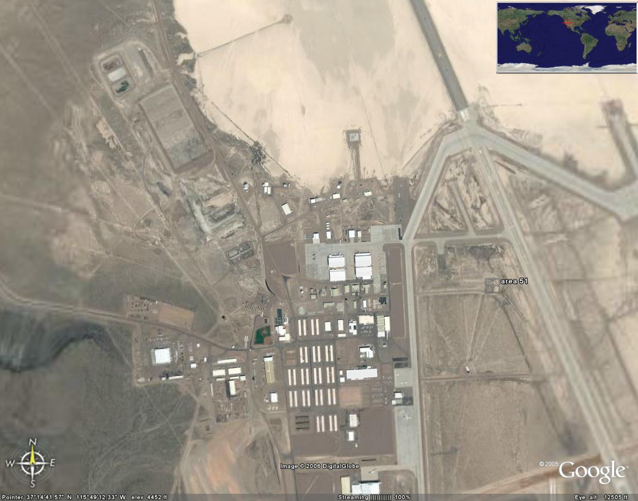 THE LAST SIGNS: THE SECRETS OF THE AREA 51 - TOUR WITH GOOGLE EARTH